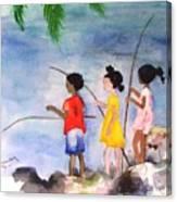 St Simons Fishermen Canvas Print