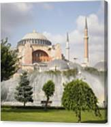 St Sophia Mosque And Fountain In Park Canvas Print