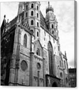 St Stephens Cathedral Vienna In Black And White Canvas Print
