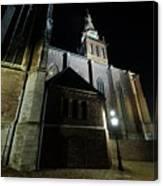 St. Steven's Church In Nijmegen At Night Canvas Print