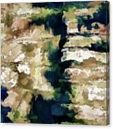 St Thomas - Brick Wall Shadow Canvas Print