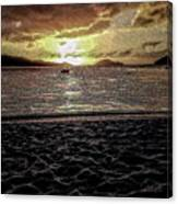 St Thomas - Dusk At Magans Bay Canvas Print