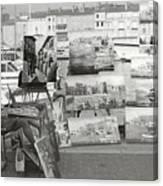 St. Tropez Paintings Canvas Print