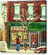 St Viateur Bagel Shop Montreal Canvas Print