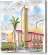 St. Victor's Catholic Church, West Hollywood, Ca Canvas Print