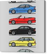 Stack Of E36 Variants Canvas Print
