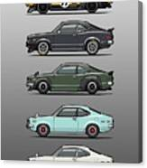 Stack Of Mazda Savanna Gt Rx-3 Coupes Canvas Print