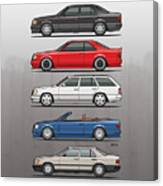 Stack Of Mercedes Benz W124 E-class Canvas Print