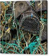 Stacked Crab Traps Canvas Print