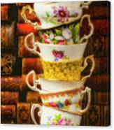 Stacked High Tea Cups Canvas Print