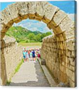 Stadium At Olympia, Greece  Canvas Print