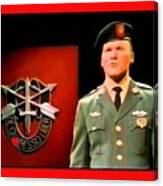 Staff Sergeant Barry Sadler Singing On National Tv - Ed Sullivan Show 1966-2016 Canvas Print