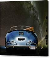 Star Gazing,1955 Porsche 356a 1600 Speedster, Under The Milky Way Canvas Print