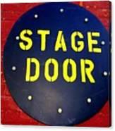 Stage Door Canvas Print