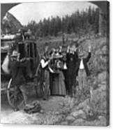 Stagecoach Robbery, 1911 Canvas Print