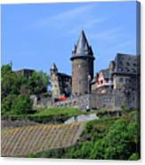 Stahleck Castle In The Rhine Gorge Germany Canvas Print