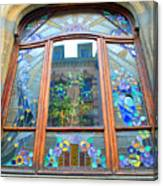 Stain Glass Of Brussels Canvas Print
