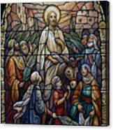 Stained Glass - Palm Sunday Canvas Print