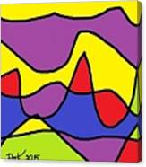 Stained Glass Abstract Canvas Print