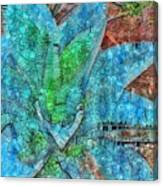Stained Glass Agave Two  Canvas Print