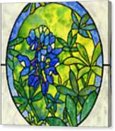Stained Glass Bluebonnet Canvas Print
