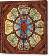 Stained Glass Ceiling Window Canvas Print