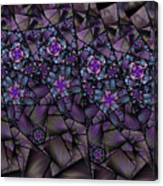 Stained Glass Floral II Canvas Print