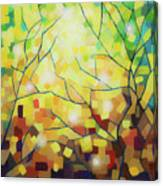 Stained Glass Forest Canvas Print