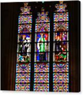 Stained Glass Glory Of St Patricks Canvas Print
