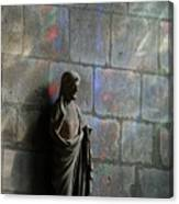 Stained Glass Illuminates Christ Canvas Print