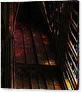 Stained Glass Impression Notre Dame Paris Canvas Print