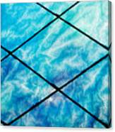 Stained Glass In Blues Canvas Print