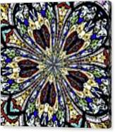 Stained Glass Kaleidoscope 38 Canvas Print