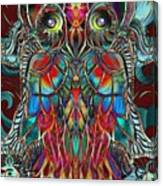 Stained Glass Owl  Canvas Print