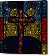 Stained Glass Reworked Canvas Print