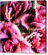 Stained Glass Roses 2 Canvas Print