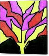 Tree - Stained Glass Watercolor Canvas Print
