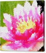 Stained Glass Waterlily Canvas Print