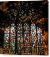 Stained Glass Window Christ Church Cathedral 1 Canvas Print