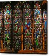 Stained Glass Window Christ Church Cathedral 2 Canvas Print