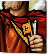 Stained Glass Window, St Peter Canvas Print