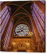 Windows Of Saint Chapelle Canvas Print