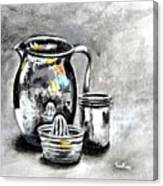 Stainless Steel Still Life Painting Canvas Print