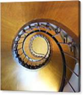 Staircase At Azay Le Rideau Canvas Print