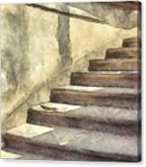Staircase At Pitti Palace Florence Pencil Canvas Print