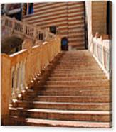 Staircase At Scala Della Ragione - Verona Italy Canvas Print