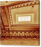 Staircase In Brown Canvas Print