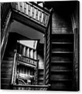 Staircase In Swannanoa Mansion Canvas Print