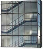 Stairs Behind Glass Canvas Print