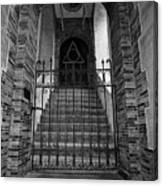 Stairs Beyond B-w Canvas Print